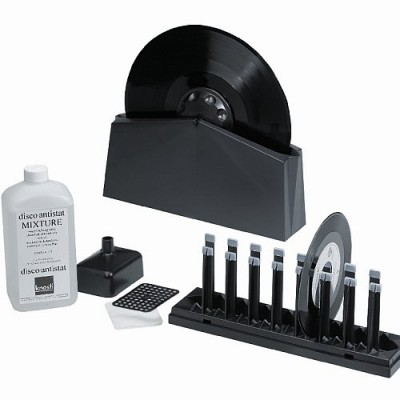 Disco antistat record cleaning unit + accessories