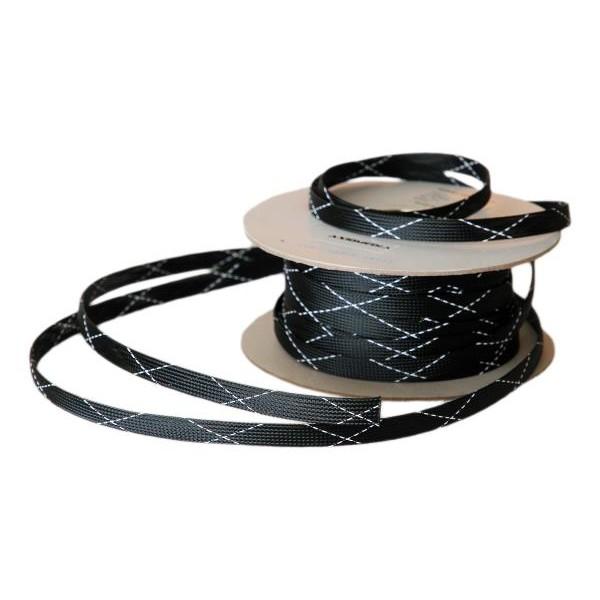 Guaine per cavo Espandibile : Guaina Espandibile nera e bianca - Diametro: 2.55mm → 6.37mm