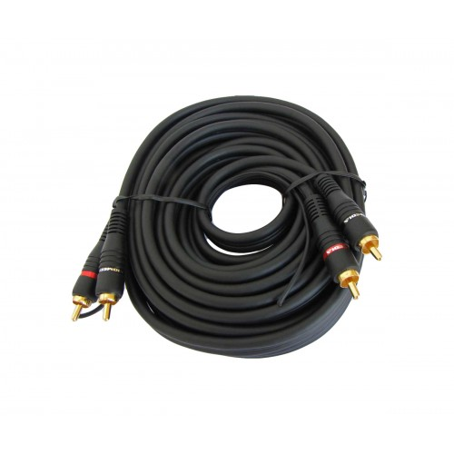 Audio Cable 2 x RCA male to 2 x RCA  with remote 5 m