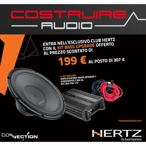 Hertz - PROMO BASS UPGRADE: MONO DPOWER 1 amp + Subwoofer s 300 S4 + kit cavi