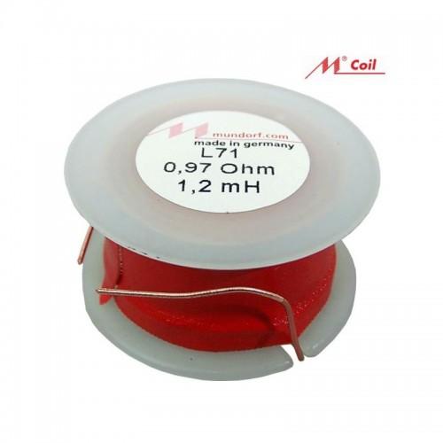 Air Inductor MUNDORF  0.39 mh Ø 1.00 mm